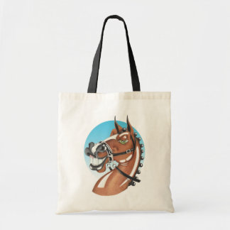 Equi-toons 'Kerching'! brown horse companion. Tote Bag