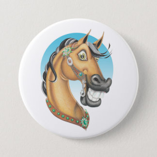 Equi-toons 'Western Showstopper' horse companion 3 Inch Round Button