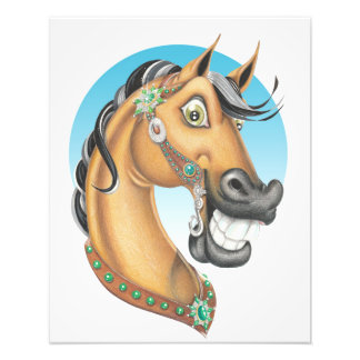 Equi-toons 'Western Showstopper' horse poster Photographic Print