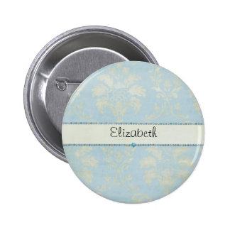 Équilibre bleu de diamants de damassé vert clair b badges avec agrafe