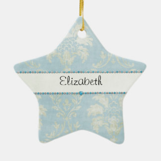 Équilibre bleu de diamants de damassé vert clair b décorations pour sapins de noël