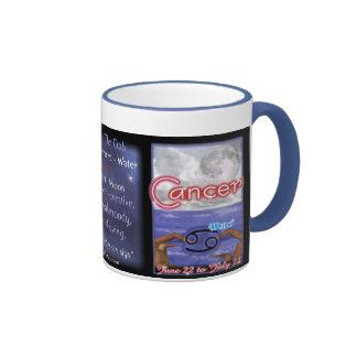 Équilibre bleu de zodiaque de Cancer grand Mugs