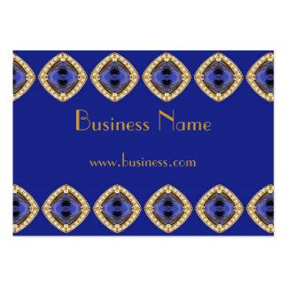Équilibre bleu riche de bijou d'affaires de carte  modèle de carte de visite