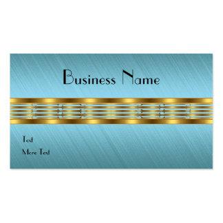 Équilibre d'or frangé par tissu bleu de carte de v cartes de visite professionnelles