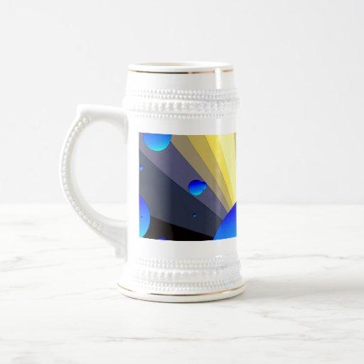 Équilibre Stein d'or de lunes bleues Tasse À Café