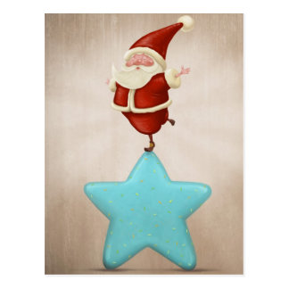 Equilibrist Santa Claus Postcard