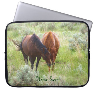 Equine Friendship Horse-lover's Laptop Sleeve