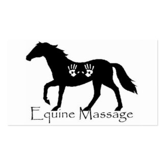 Equine Massage Pack Of Standard Business Cards