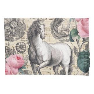 equine vintage music pillowcase