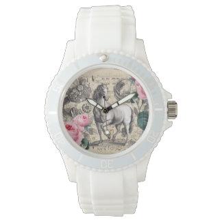equine vintage music wrist watches