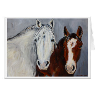Equine Voices Mystic and Wyatt Card with Border