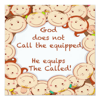 "Equip The Called! 5.25"" Square Invitation Card"