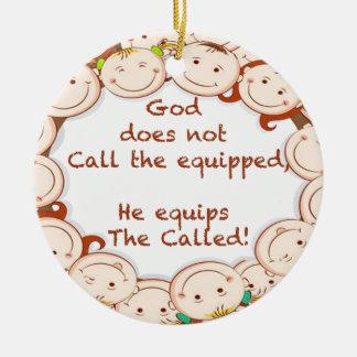 Equip The Called! Round Ceramic Ornament