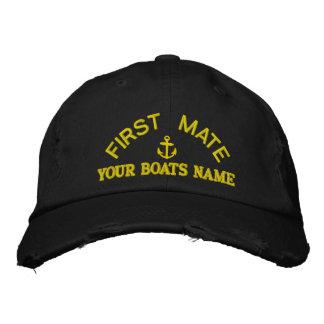 Équipage personnalisé de yacht de premier casquettes brodées