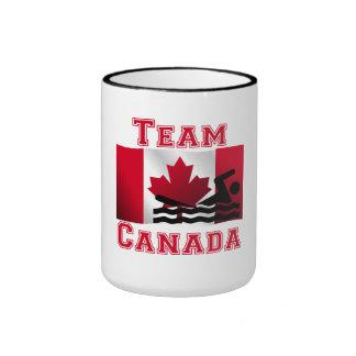 Équipe canadienne de natation Canada de drapeau Tasses
