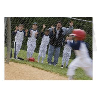 Équipe de baseball cartes de vœux