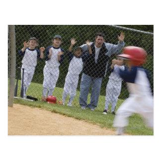 Équipe de baseball cartes postales