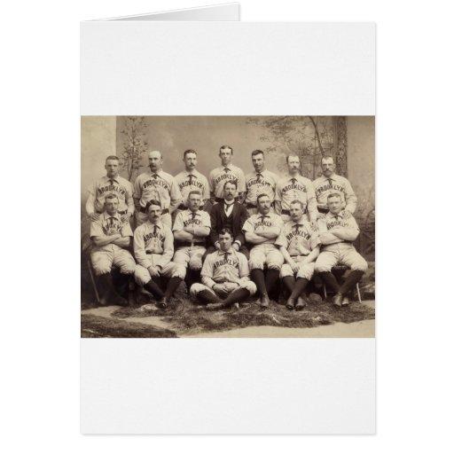 Équipe de baseball de Brooklyn, 1889 Cartes De Vœux