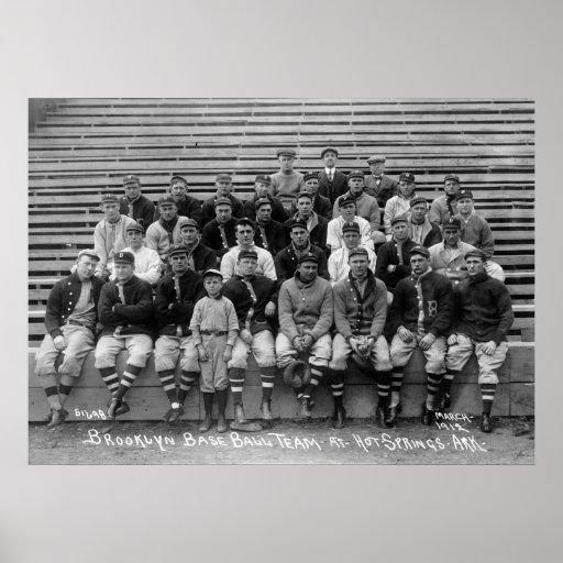 Équipe de baseball de Brooklyn, les années 10 Posters