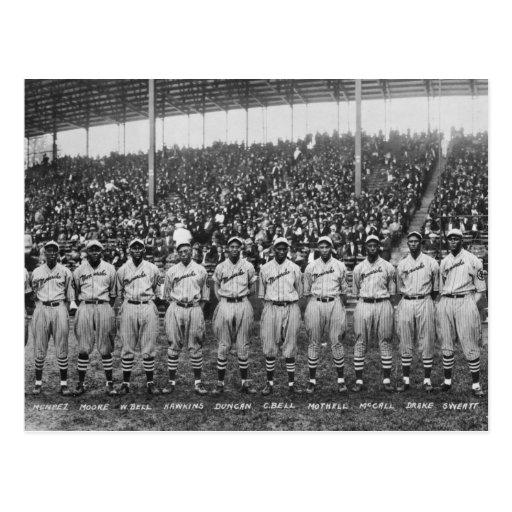 Équipe de baseball de monarques de Kansas City Carte Postale