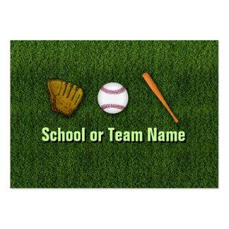 Équipe de baseball fraîche - personnel carte de visite grand format
