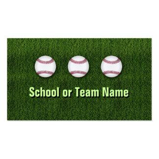 Équipe de baseball fraîche - personnel d'entraîneu cartes de visite personnelles