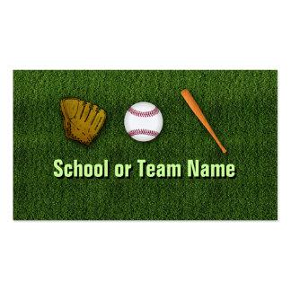 Équipe de baseball fraîche - personnel d'entraîneu modèles de cartes de visite