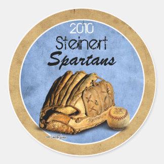 Équipe de baseball - sports sticker rond