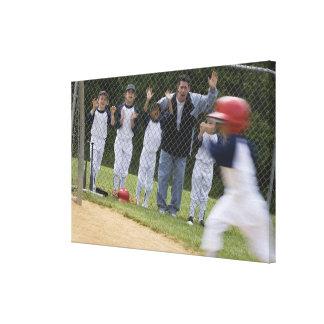 Équipe de baseball toiles tendues sur châssis