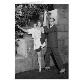 Équipe de danse de cabaret, les années 1920 carte de vœux