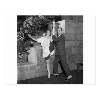 Équipe de danse de cabaret, les années 1920 carte postale