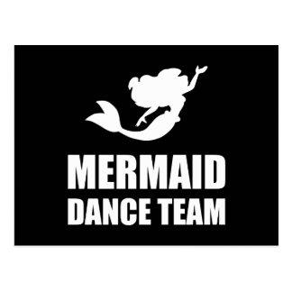 Équipe de danse de sirène carte postale
