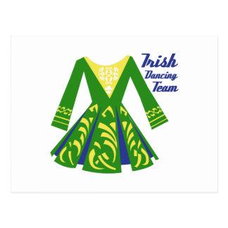 Équipe de danse d'Irlandais Cartes Postales