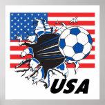 Équipe de football des Etats-Unis Poster