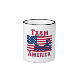 Équipe de natation Amérique de drapeau américain Tasse À Café