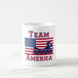 Équipe de natation Amérique de drapeau américain Tasse