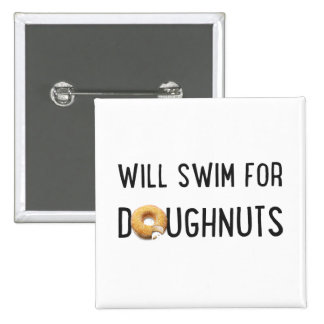 Équipe de natation, cadeau drôle de nageur, beigne macaron carré 5 cm