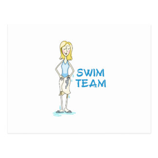 Équipe de natation cartes postales