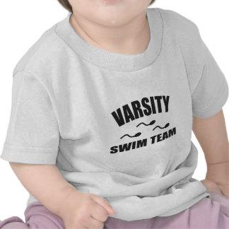 Équipe de natation de fac t-shirts
