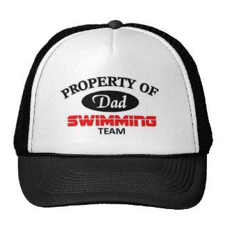 Équipe de natation de papas casquettes
