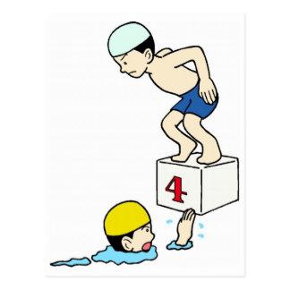 Équipe de natation d'école carte postale