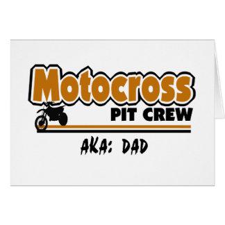 Équipe du stand de ravitaillement de motocross carte de vœux