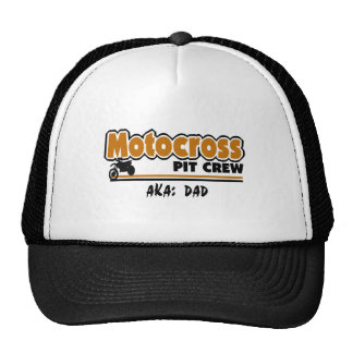 Équipe du stand de ravitaillement de motocross casquette de camionneur