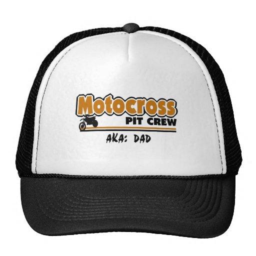 Équipe du stand de ravitaillement de motocross casquettes
