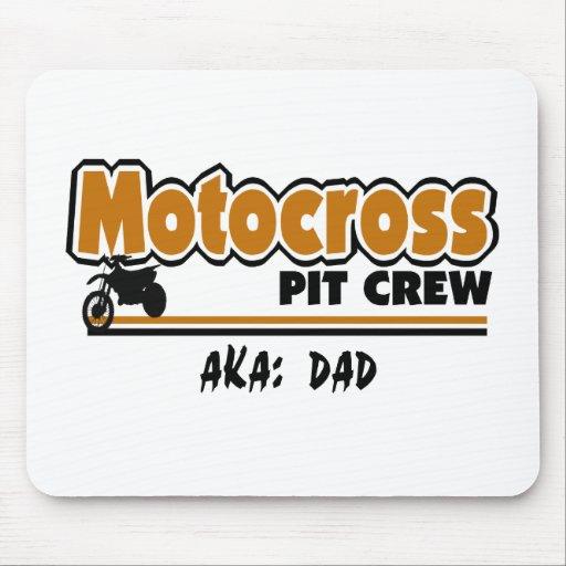 Équipe du stand de ravitaillement de motocross tapis de souris