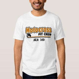 Équipe du stand de ravitaillement de motocross tshirt