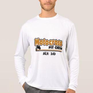 Équipe du stand de ravitaillement de motocross tshirts