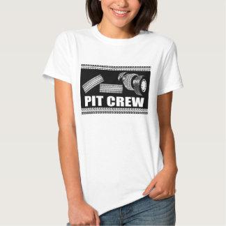 Équipe du stand de ravitaillement (pneus) t-shirt