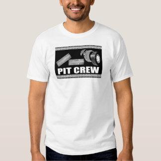 Équipe du stand de ravitaillement (pneus) tee shirts