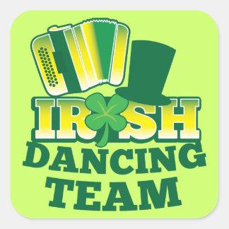 ÉQUIPE irlandaise de danse Autocollant Carré